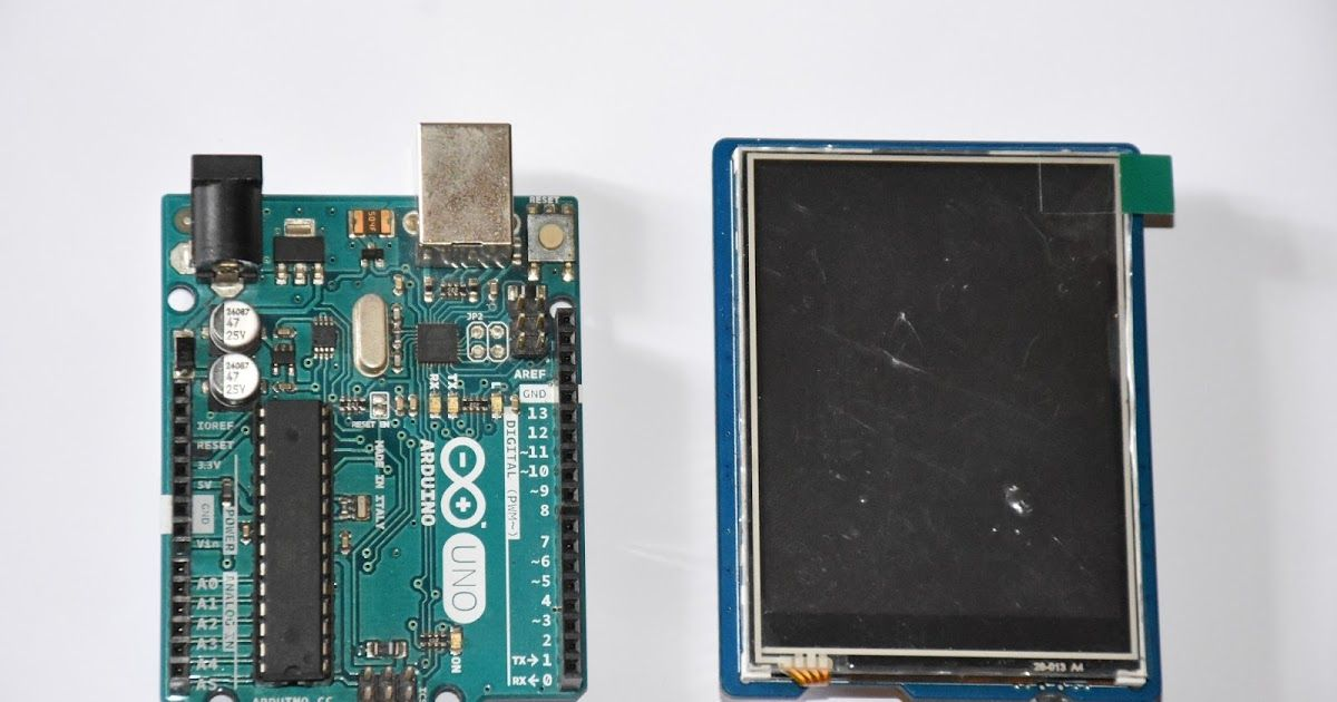 Touch screen interfacing using Arduino UNO, 2 8' TFT touch