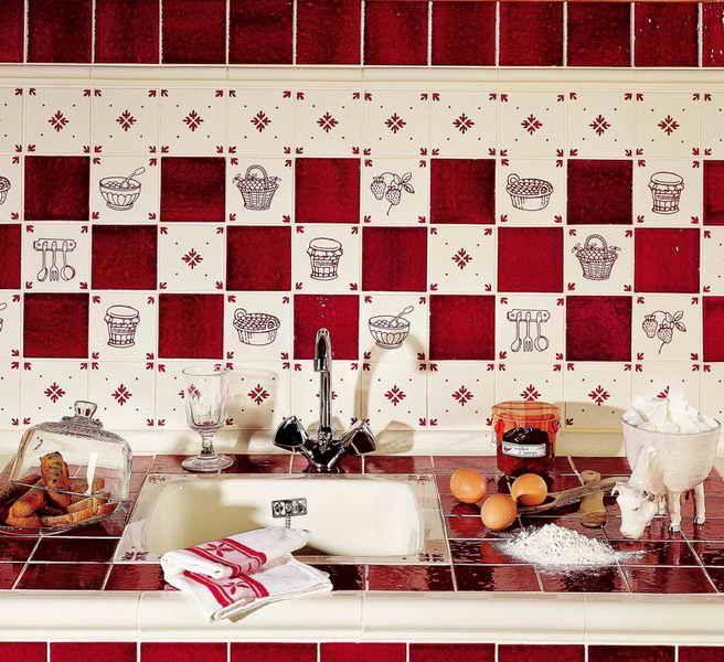 Carrelage de Cuisine:Carrelage Cuisine Blanc Et Rouge Carrelage ...