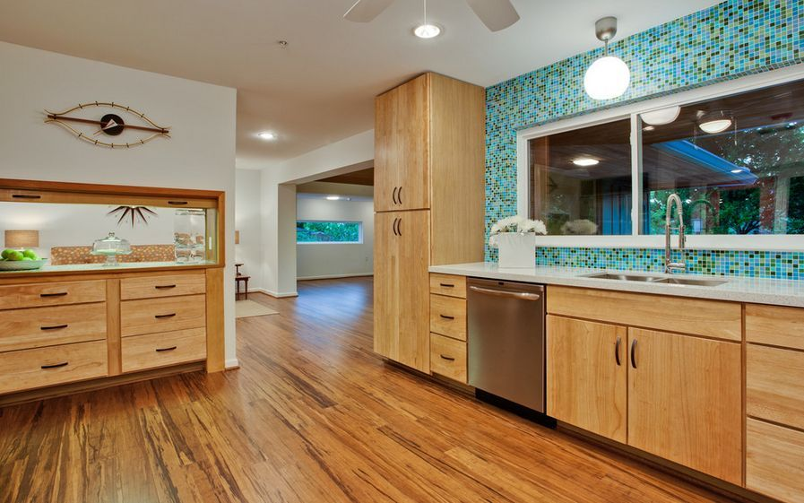 A Closer Look At Bamboo Flooring The Pros Cons Bamboo Flooring Kitchen Kitchen Flooring Outdoor Kitchen Countertops