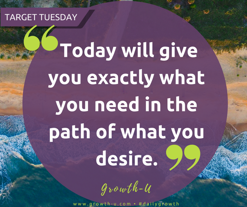 Target Tuesday -  Today will give you exactly what you need in the path of what you desire.