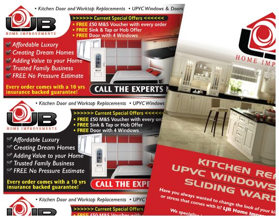 Ljb Home Improvements Advert Design Improve Advertising Design