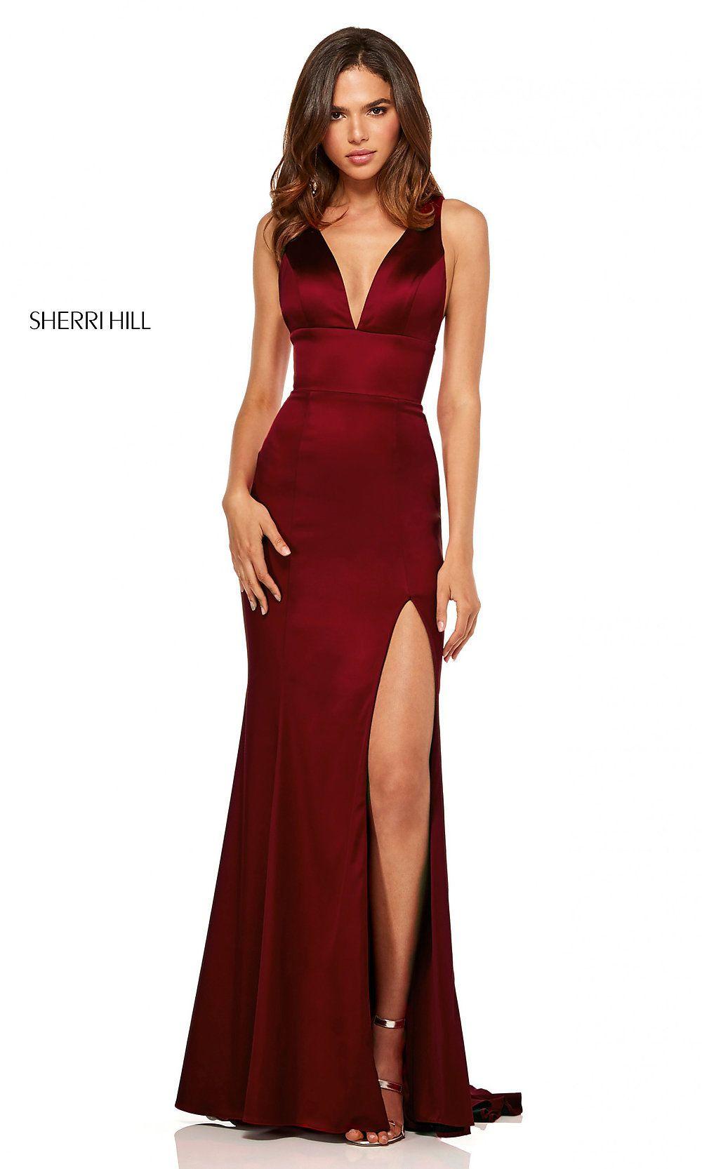 f23396c026f V-Neck Long Side-Slit Prom Dress by Sherri Hill in 2019