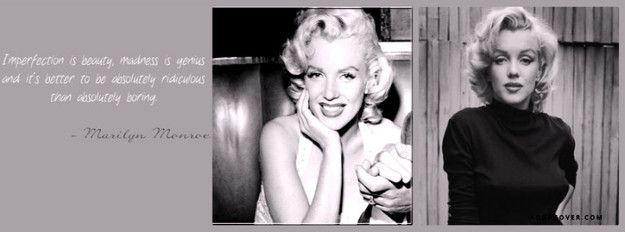 Marilyn Monroe Quote Facebook Cover Marilyn monroe
