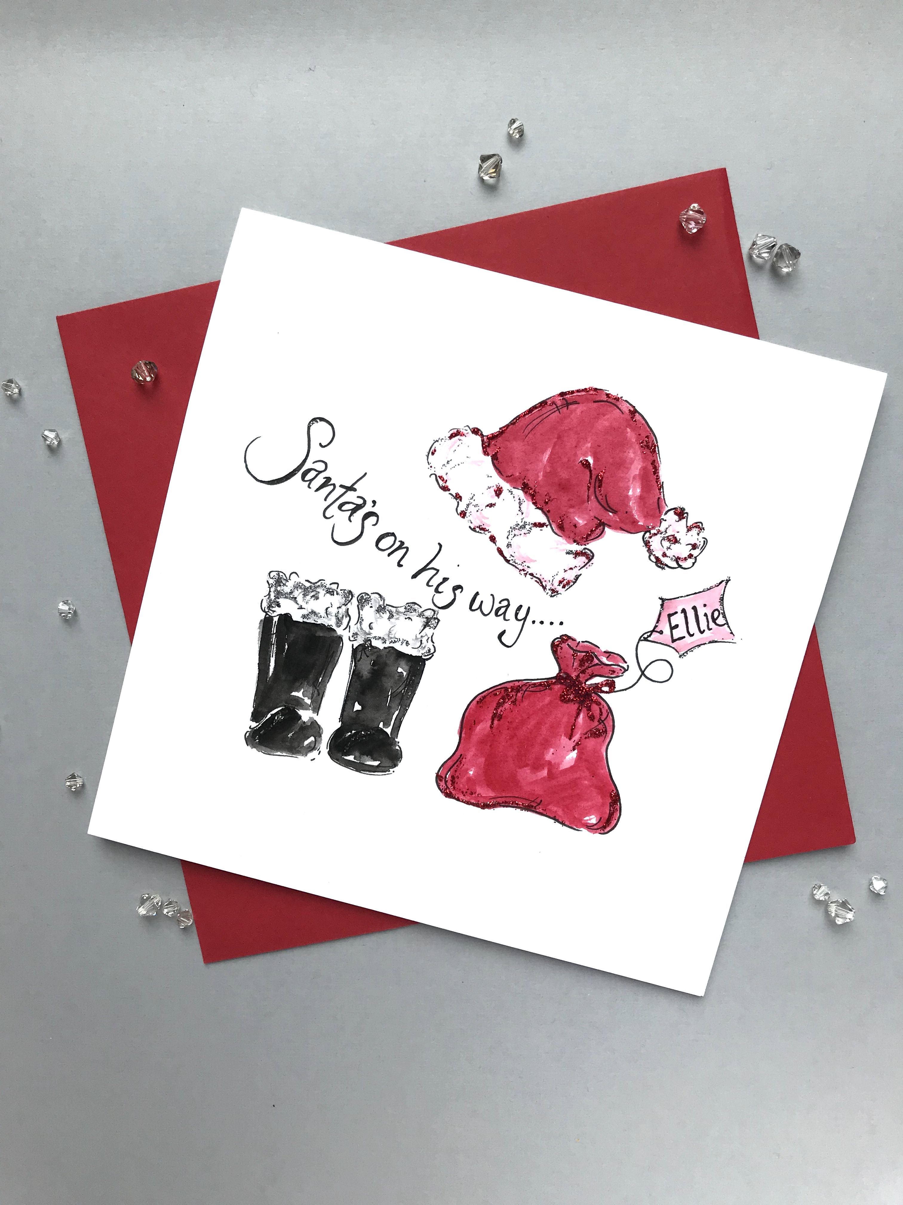 Niece Christmas card Personalised Christmas card for a special NIECE