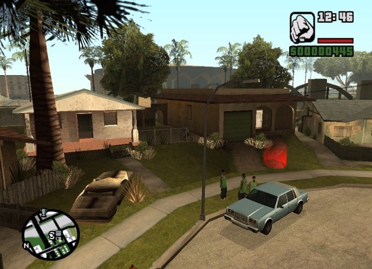Grove Street Sweet S House And Basketball Hoop Ganton Los Santos Gta San Andreas Gta San Andreas Grand Theft Auto Series