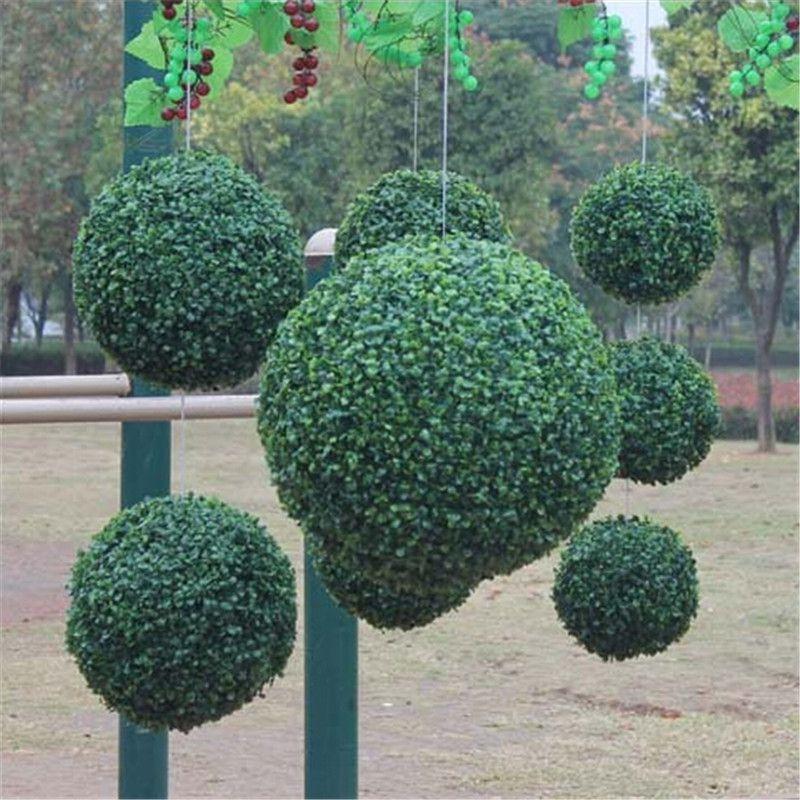 Fashion Artificial Plant Ball Tree Boxwood Wedding Event Party Home Garden Decor