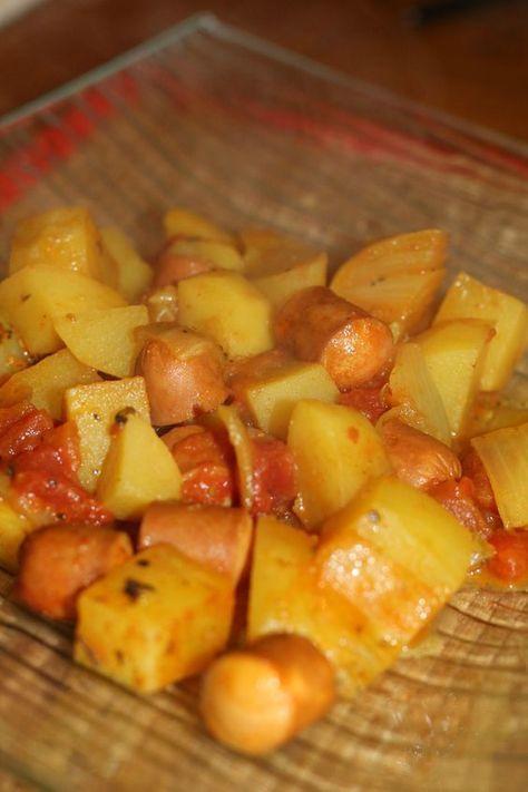 Pommes de terre aux knackis au Cookéo - La cuisine et les voyages de Pripri   Recettes de ...