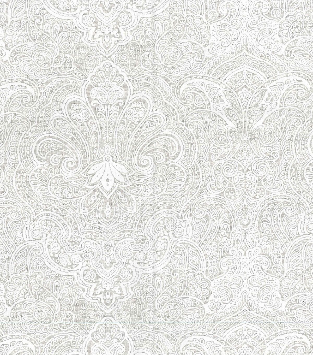 Keepsake Calico Cotton Fabric Large Paisley On White In