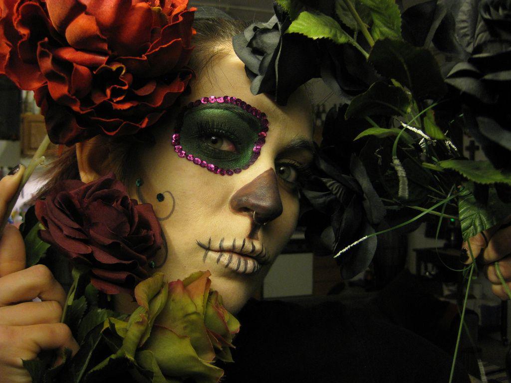 Dia de los Muertos makeup.