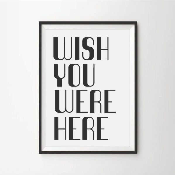 35.00$ - Abstract print poster, wish you where here, retro print ...