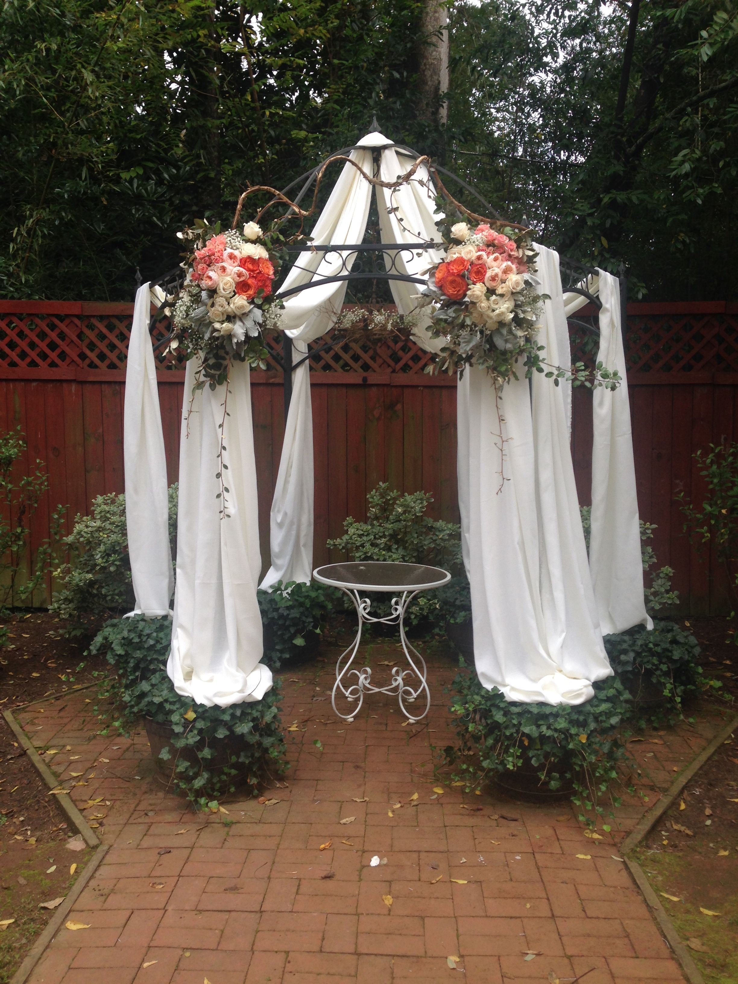 Gazebo Decoration Tulle Duncan Estate Wedding Www Duncanestate Com Gazebo Decorations Gazebo Gazebo Wedding