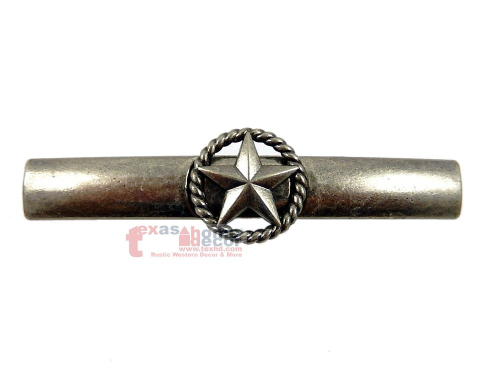 Star Rope Drawer Pull Door Handle Old Silver Western Cabinet