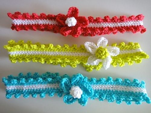 Ravelry: Hair Band Glamour pattern by Anchor | Crochet: Baby ...