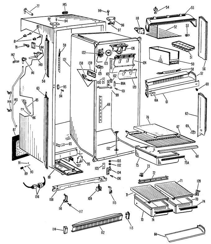 Wr2x4395 Ge Refrigerator New Grommet Ge Refrigerator