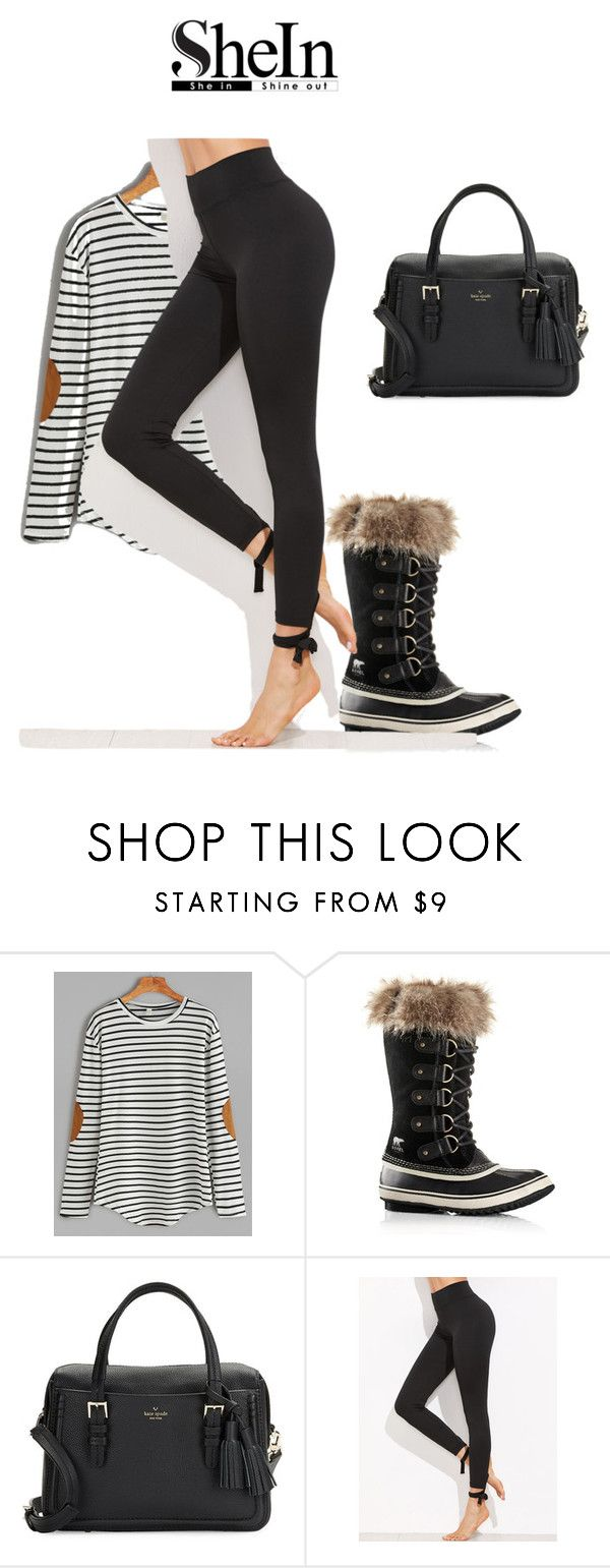 """Untitled #55"" by vanja-3 ❤ liked on Polyvore featuring WithChic, SOREL and Kate Spade"
