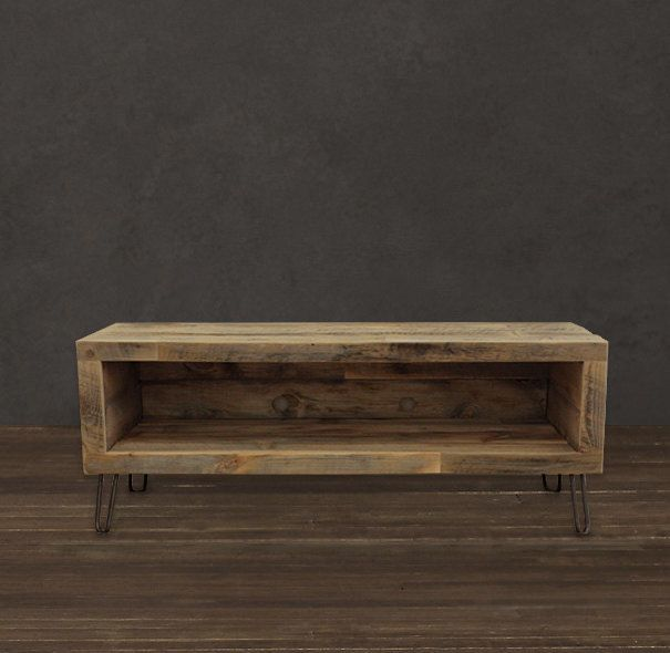 Reclaimed Wood Media Console / via Etsy. - Reclaimed Wood Media Console / TV Stand (56