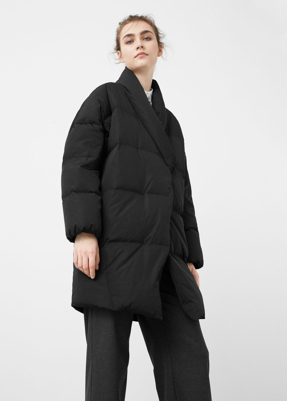 94e9bd333763 Quilted feather coat - Women