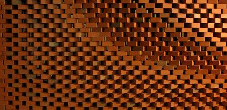 built by a robotic arm these brick surfaces and walls are an innovative celebration of - Brick Design Wall