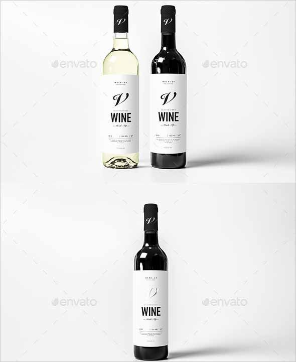 Download Modern Wine Bottle Mockup Wine Bottle Mock Up Advanced Easy To Edit Mockup It Contains Everything You Need To Create A Reali Wine Bottle Bottle Mockup Bottle