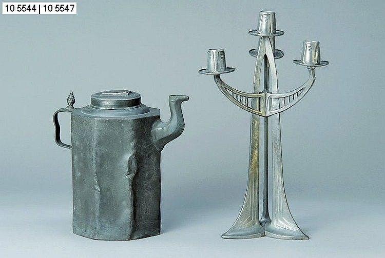 Candlesticks, design by Albert Reimann, 1902,