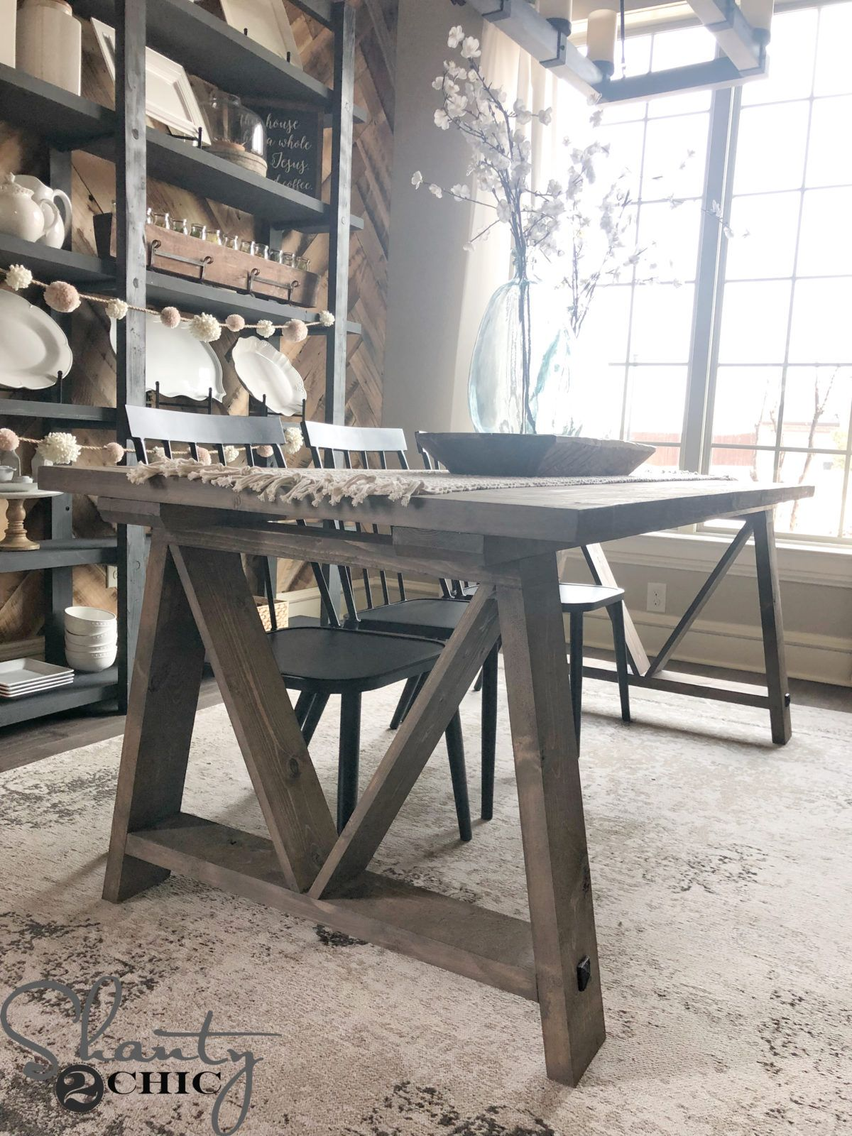 Diy Fancy V Dining Table For Under 100 And A Tool Giveaway Diy