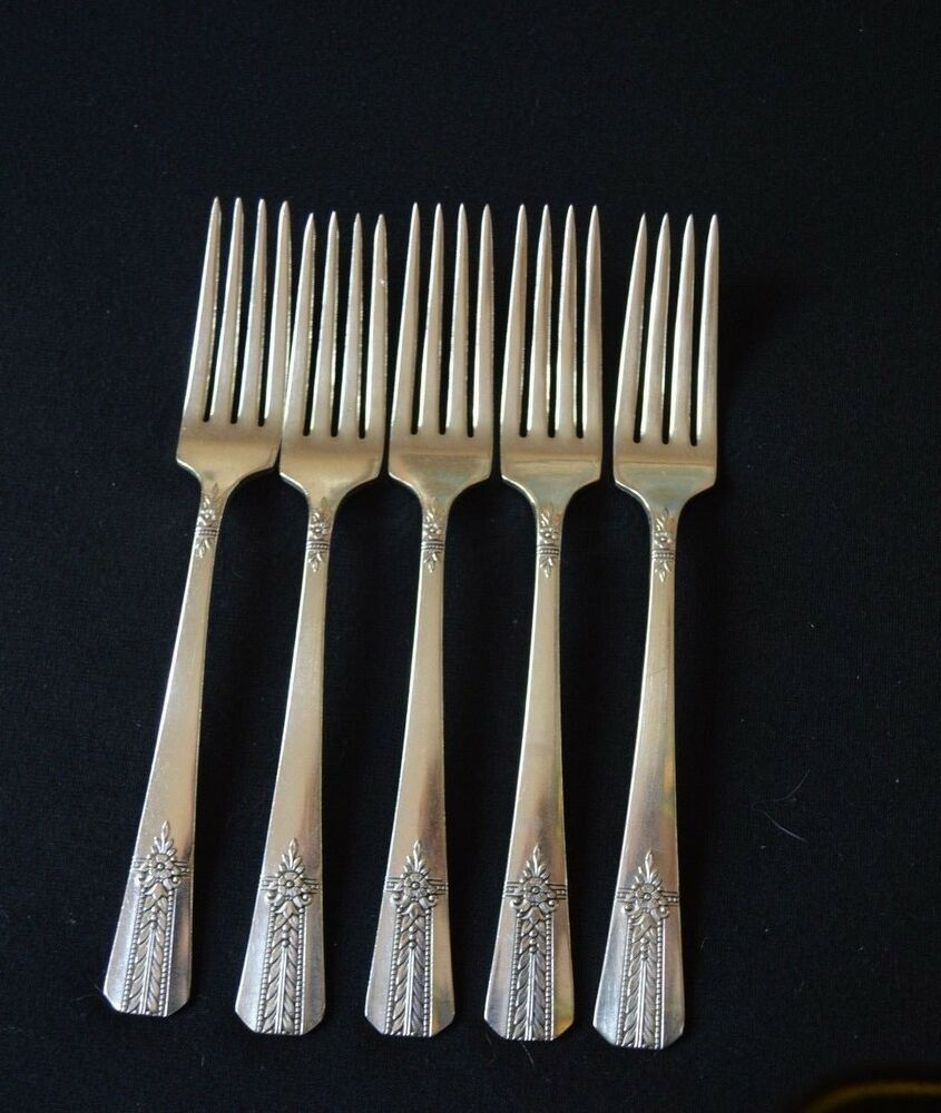 """La Vigne by 1881 Rogers Plate Silverplate Salad Fork Small 6 3//8/"""""""