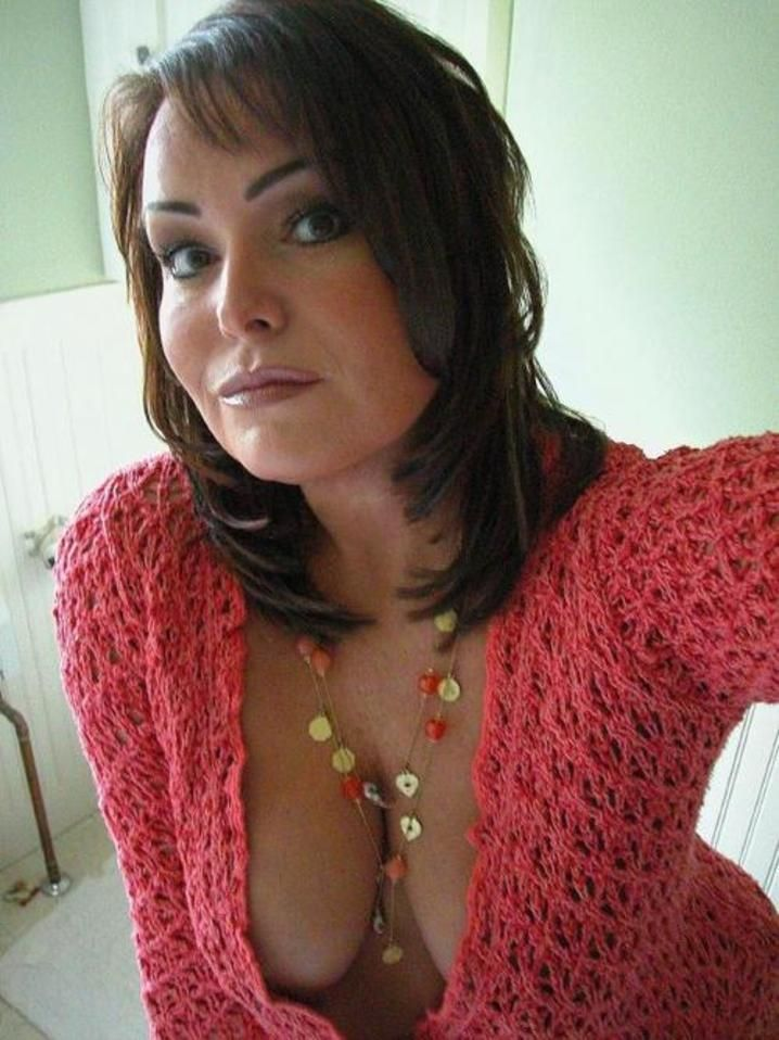 Beautiful brunette milf is so sexy