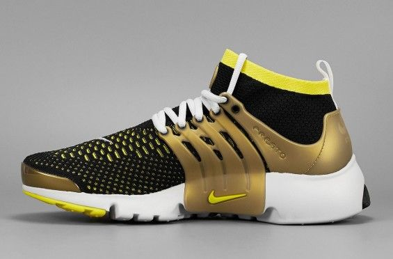 5167758073a52 Gold Accents This Nike Air Presto Flyknit Ultra
