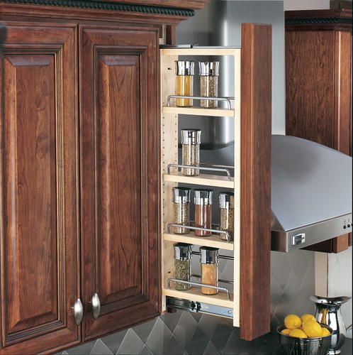 Upper Kitchen Cabinet Woodworking Plans: 3 Wide Wall Filler Pull-Out (cabinet & Moulding Not