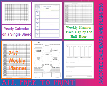 Free Printable School Calendars And Planners For Teachers
