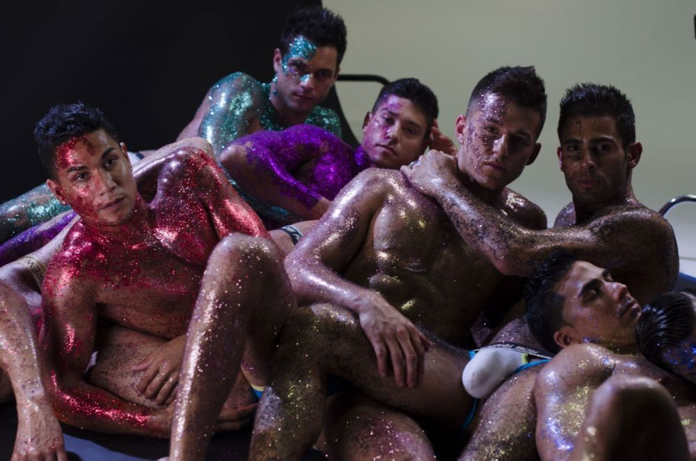 "Behind the Scenes of Andrew Christian's hot ""Glitter"" Video  http://www.underwearexpert.com/2015/03/bts-andrew-christian-glitter-campaign/  #andrewchristian #topherdimaggio #pablohernandez #murrayswanby"