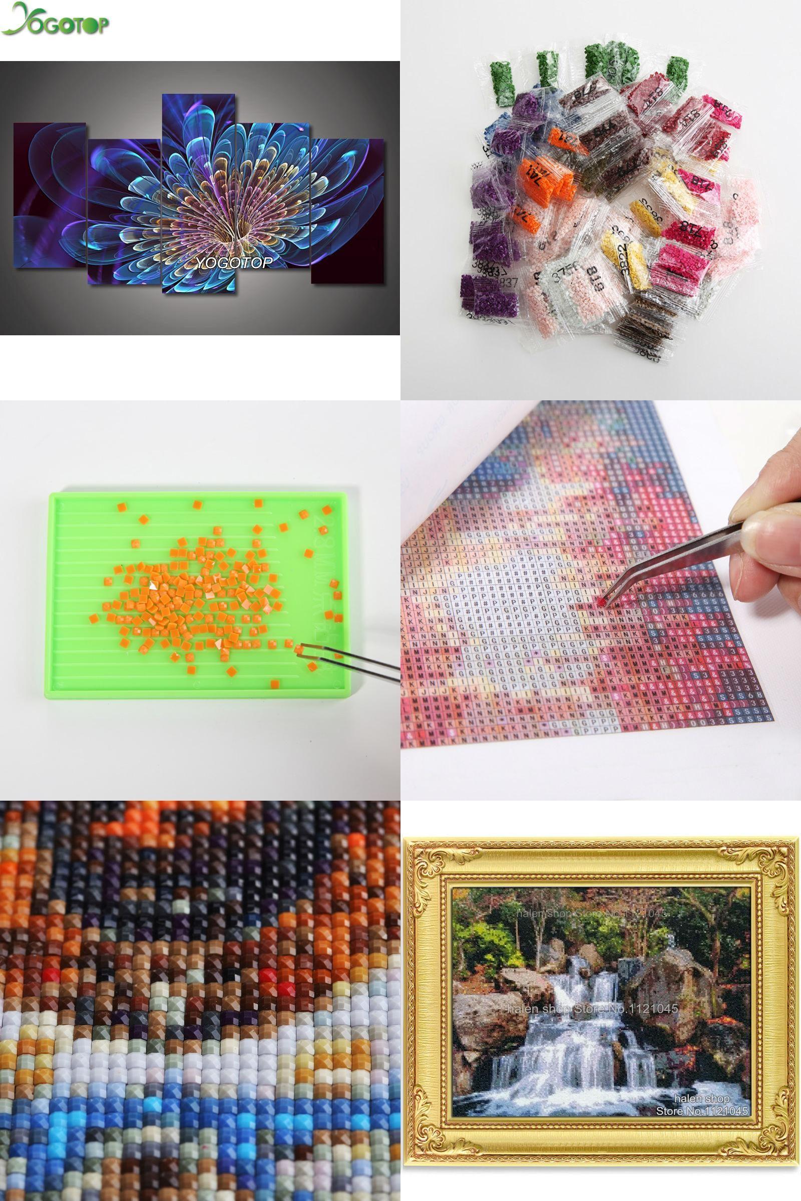 aafe7d3300 [Visit to Buy] YOGOTOP DIY 5D Diamond Painting Cross Stitch Full Diamond  Embroidery 5D