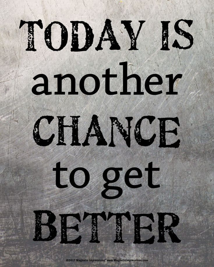 Today is Another Chance to Get Better Inspirational Quote 8 x 10 Sport Poster Print