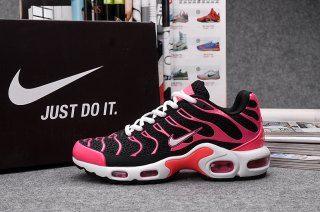 newest 345db a496a Nike Air Max Plus TN KPU Pink Black White Womens Running Shoes ...