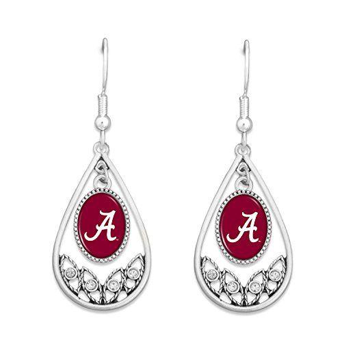 FTH Auburn Tigers Heart Slogan Earrings
