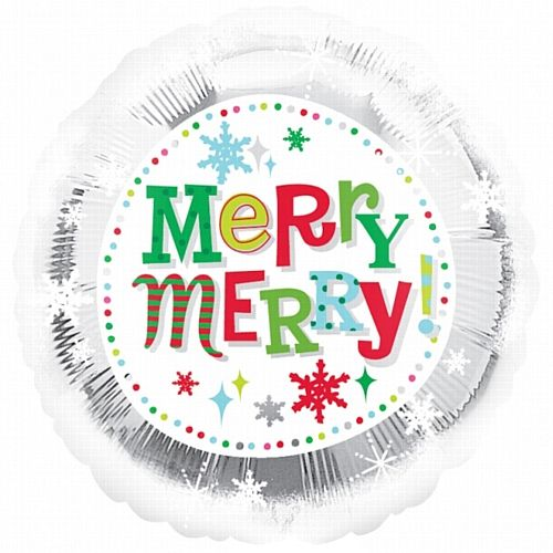 office christmas party favors. Merry Christmas Snowflakes Foil Balloon - 45cm. Office Party Decorations, Corporate Party, Work Meal, Christma\u2026 Favors