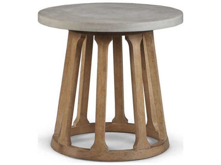 A R T Furniture Epicenters Austin Fountainwood Natural 26 Wide Round End Table Modern Living Room Table Art Furniture Living Room Table