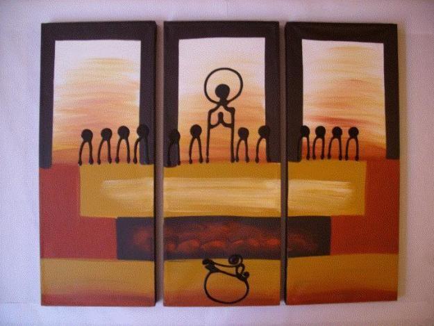 preciosa pintura sobre la ultima cena de Jesús | Cuadros para ...