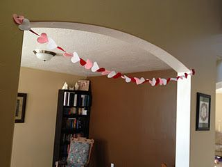 Easy heart garland.