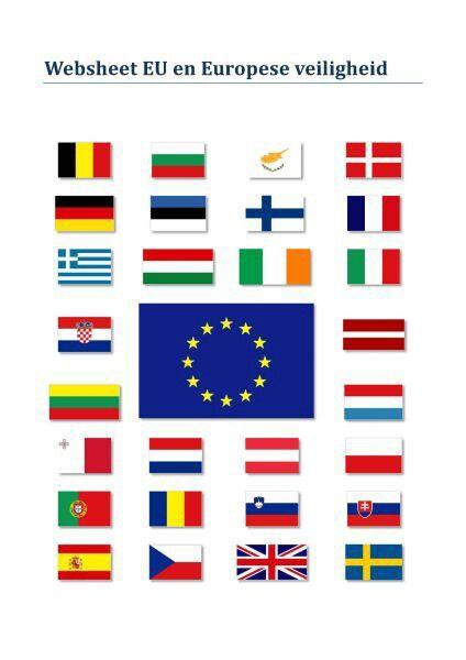 de vlaggen de landen in de europese unie europa