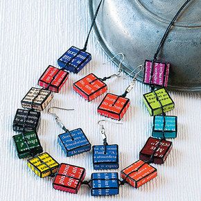 recycled magazine beads