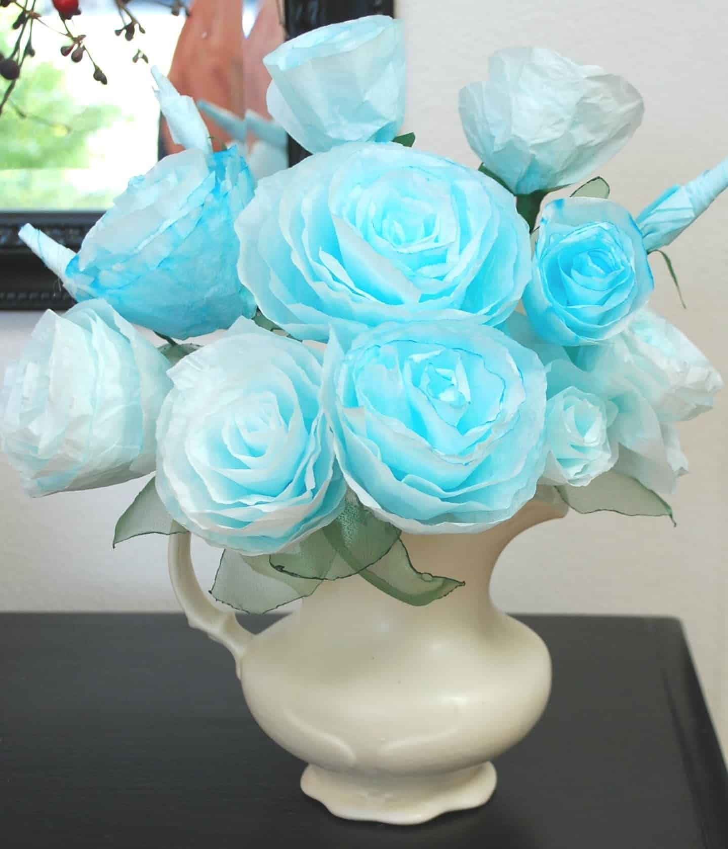 Tutorial for making paper roses out of coffee filters coffeefilters coffee filters tutorial for making paper roses out mightylinksfo