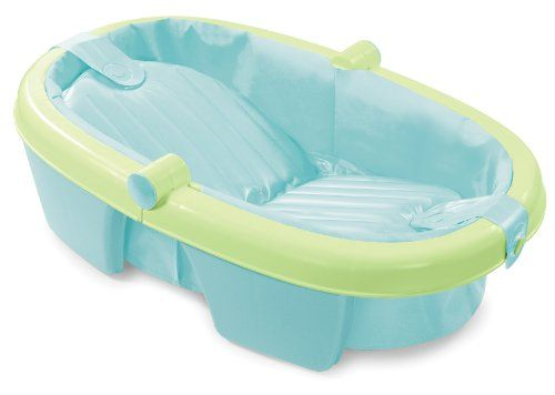 $21.54-$21.99 Baby Summer Infant Fold-Away Baby Bath, Green - The Newborn-to-Toddler Fold Away Baby Bath from Summer Infant is the perfect solution when space is an issue but you don't want to compromise on size! This folding tub is full-sized, yet folds compactly for storage or travel. Newborns will feel secure in its inclined position or parents can lay the bottom flat to give toddlers plenty  ...