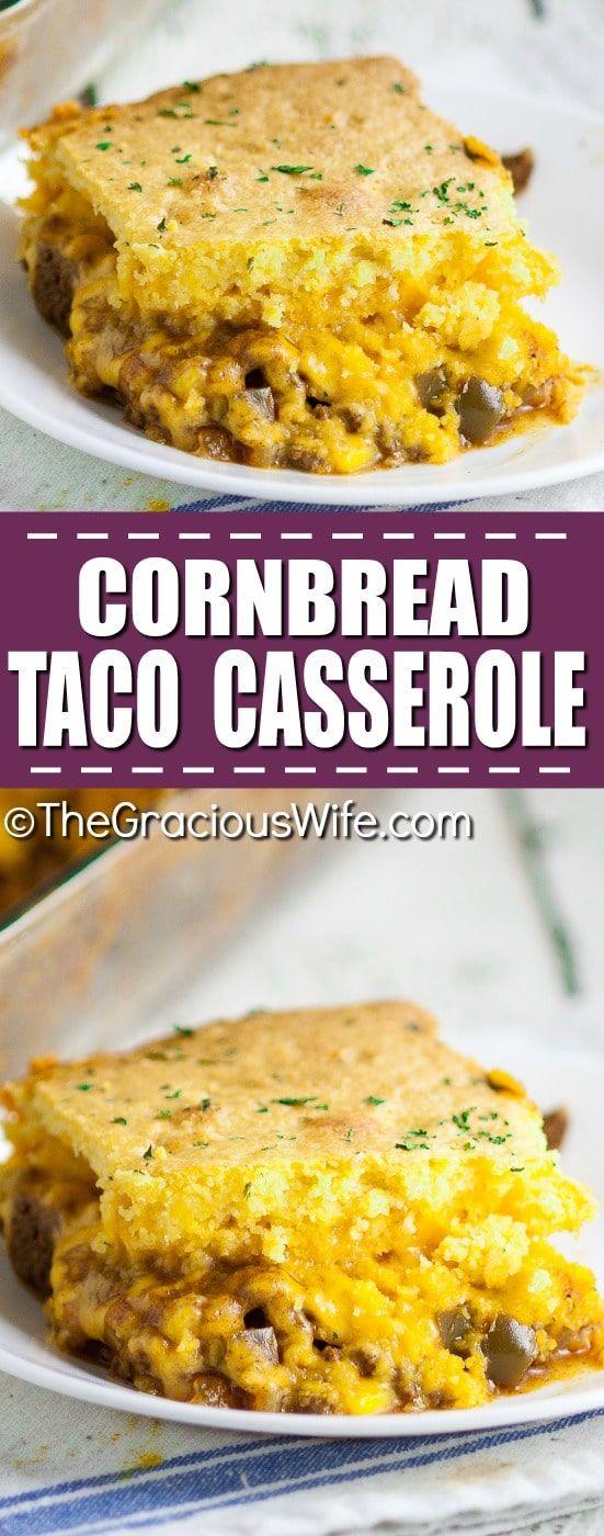 Cornbread Taco Casserole images