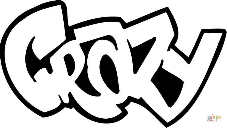 crazy graffiti coloring page from graffiti category select from 28148 printable crafts of cartoons nature animals bible and many more - Crazy Colouring Pages