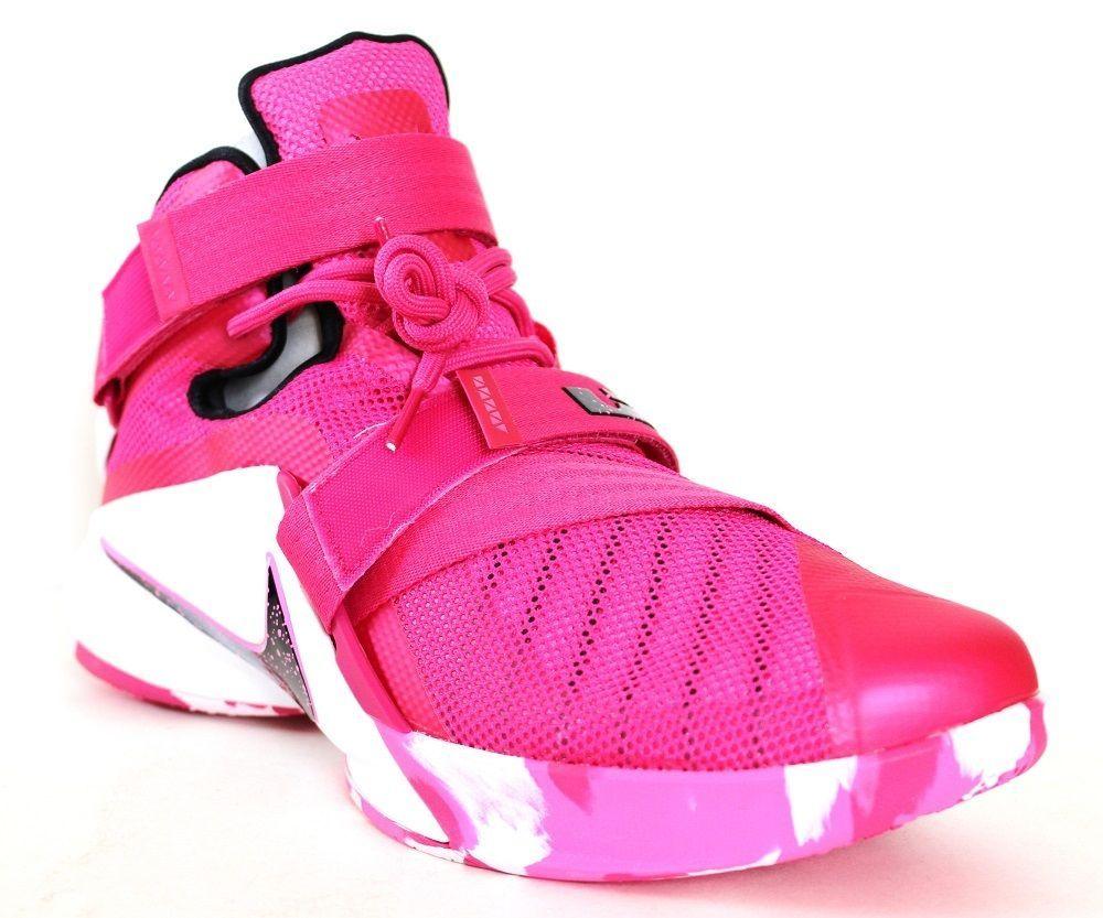 Nike Men S Lebron Soldier Ix Basketball Shoes 749417 601 Pink Silver Size 12 Nike Basketballshoes Nike Nike Basketball Shoes Sneakers Nike