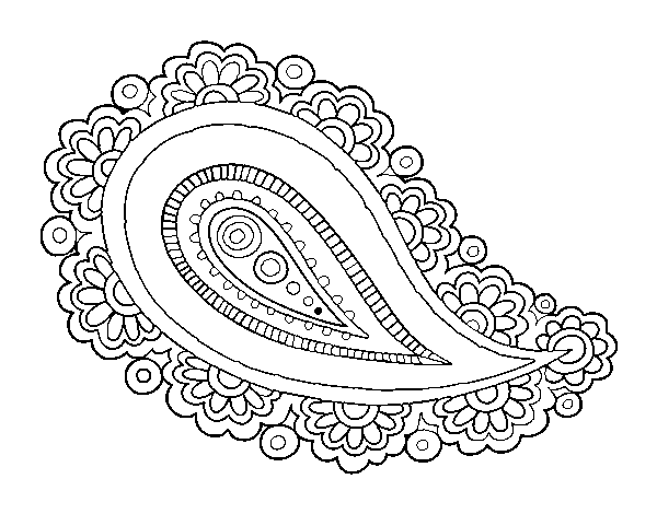 Coloring Page Mandala Teardrop To Color Online Coloringcrew Com Teardrop Tattoo Mandala Coloring Pages Paisley Tattoos