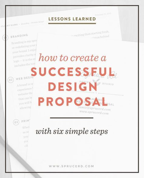 How to create a successful design proposal Pinterest Proposals
