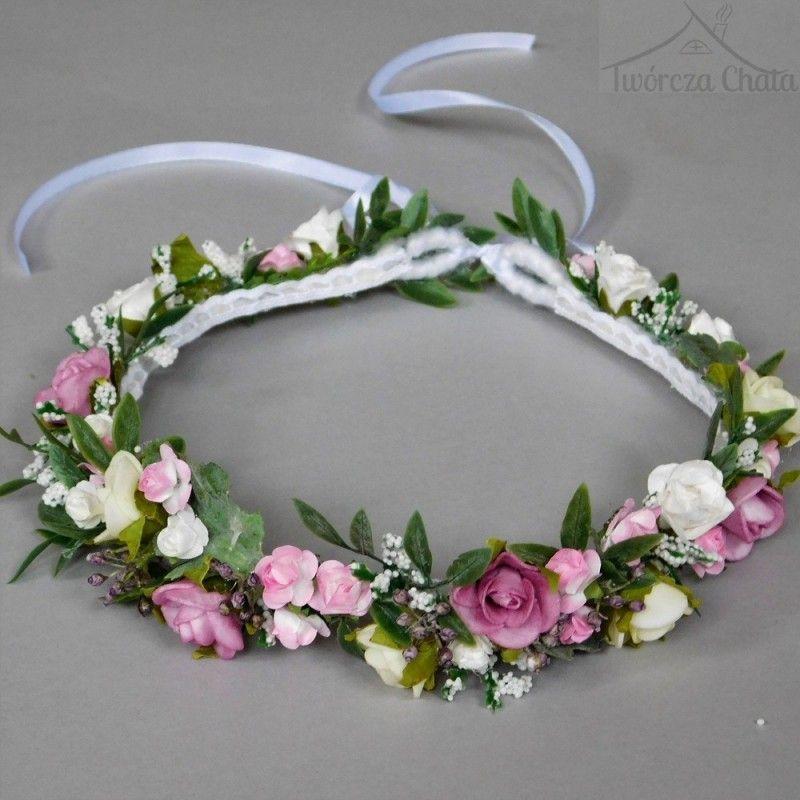 Pastelowy Wianek Kwiatowy Na Glowe Delikatny Wianek Slubny Flower Crown Childrens Bridesmaid Dresses Diy Centerpieces