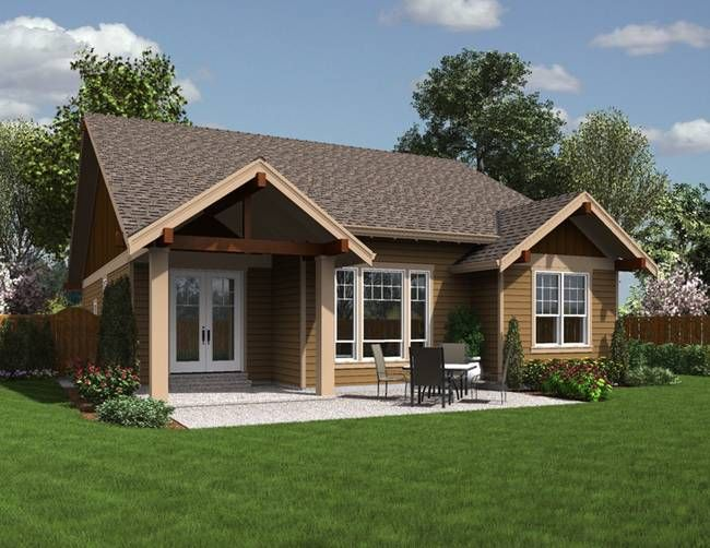house plan 1168es -the espresso | houseplans.co. rear view | cabin